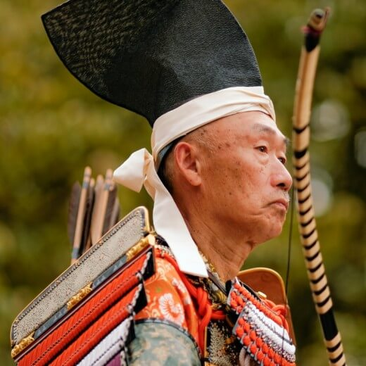 An archer at the Jidai Matsuri Festival