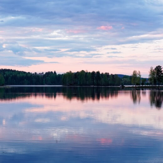 Quiet sunset at Lake Tuomiojärvi