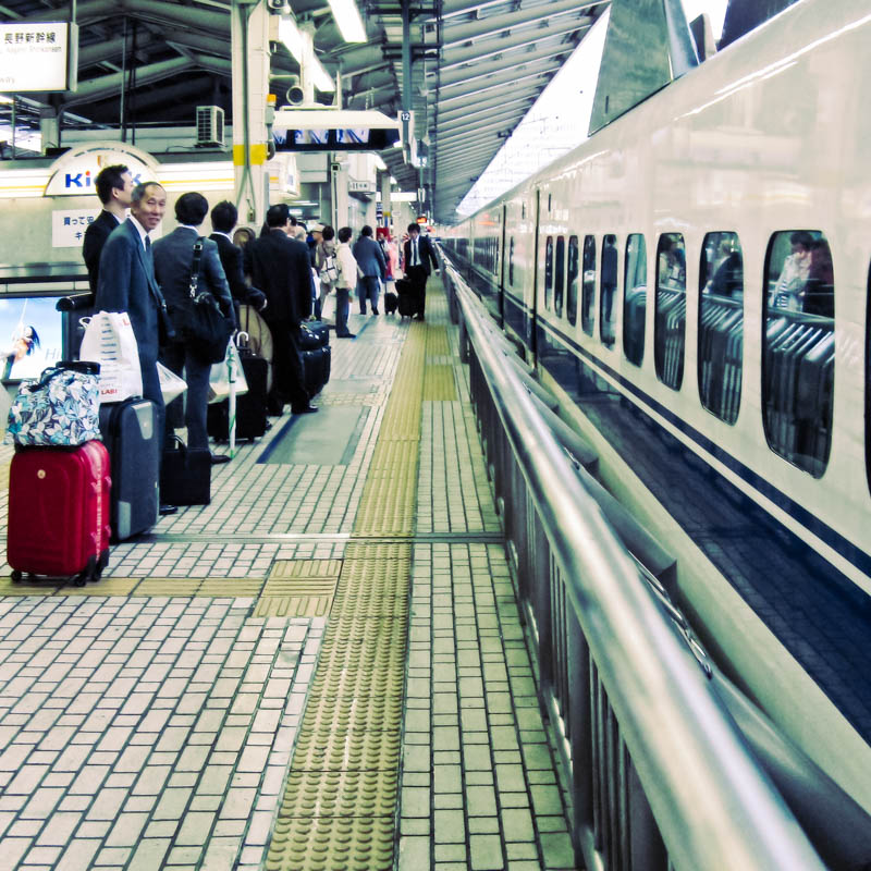 A bullet train to Kyoto on Tokyo Station