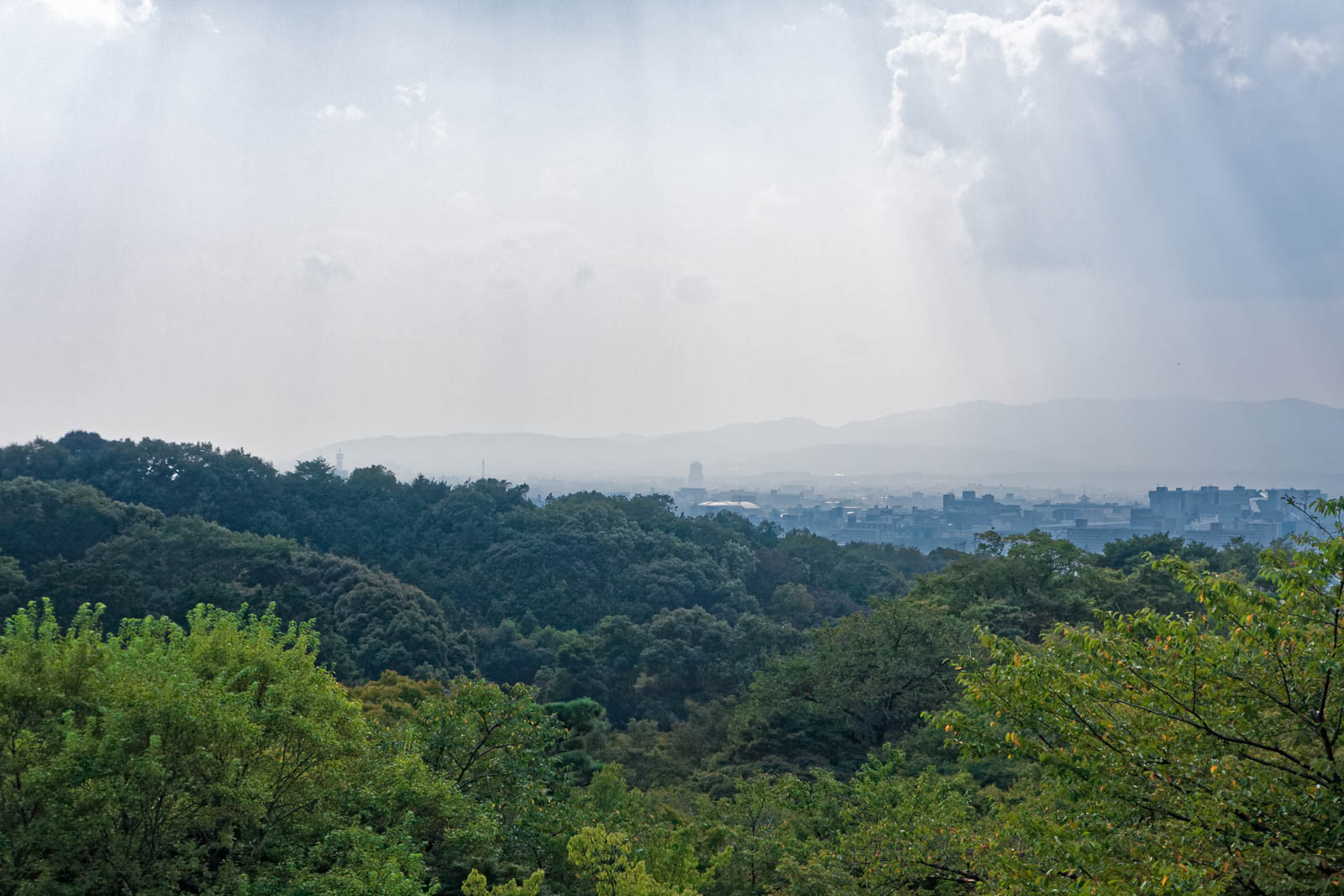 A view of Kyoto from the Main Hall of Kiyomizudera