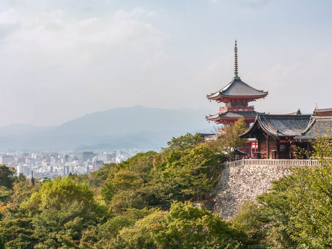 Kiyomizudera and Kyoto skyline
