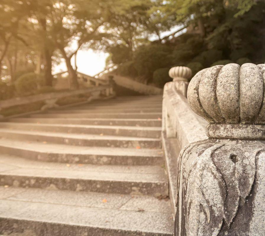Ornate stairs at Kiyomizudera