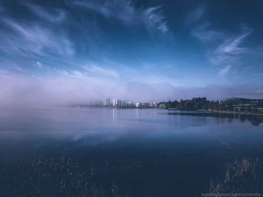 Morning mist at Jyväsjärvi in Finland